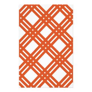 Orange and White Gingham Stationery