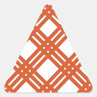 Orange and White Gingham Triangle Sticker