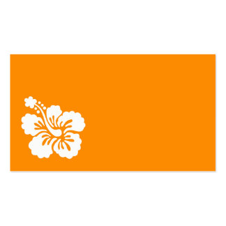 Orange and White Hibiscus Business Card