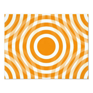 orange_and_white_interlocking_concentric_circles personalized announcements
