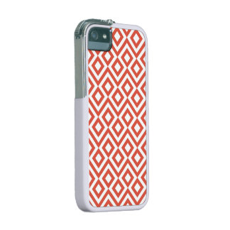 Orange and White Meander iPhone SE/5/5s Cover