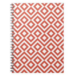 Orange and White Meander Journal