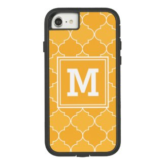 Orange and White Moroccan Trellis Quatrefoil Case-Mate Tough Extreme iPhone 8/7 Case