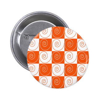 Orange and White Mouse Tails Button