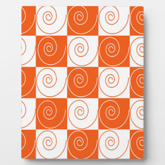 Orange and White Mouse Tails Plaque