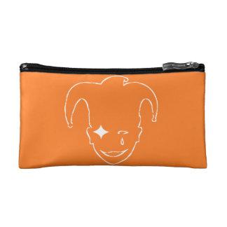 Orange And White MTJ Makeup Bag