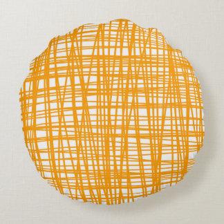 Orange and white pattern pillow