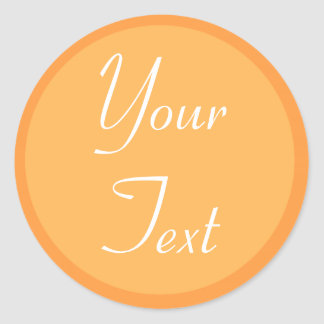 Orange and White Personal Envelope Seals w/ Text
