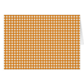 Orange and White Plaid Gingham Pattern Card