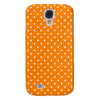 Orange and White Polka Dots Galaxy S4 Cover