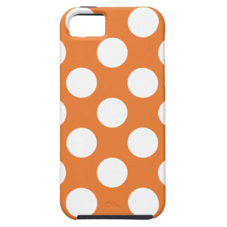 Orange and White Polka Dots iPhone 5 Case