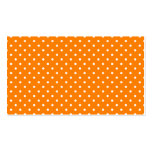 Orange and White Polka Dots Double-Sided Standard Business Cards (Pack Of 100)