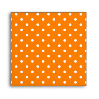 Orange and White Polka Dots Envelope