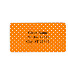 Orange and White Polka Dots Personalized Address Labels