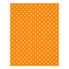 Orange and White Polka Dots Letterhead