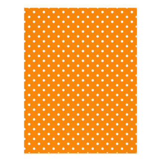 Orange and White Polka Dots Letterhead
