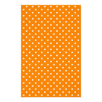 Orange and White Polka Dots Stationery