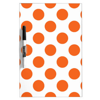 Orange and White Polkadots Dry-Erase Whiteboards