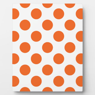 Orange and White Polkadots Plaque