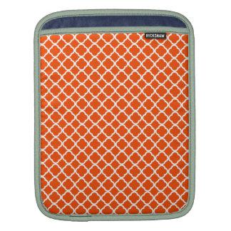 Orange and White Quatrefoil iPad Sleeve