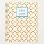 "Orange and White Quatrefoil Planner<br><div class=""desc"">Orange and White Quatrefoil Planner</div>"