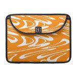 Orange and White Retro Pattern. MacBook Pro Sleeves