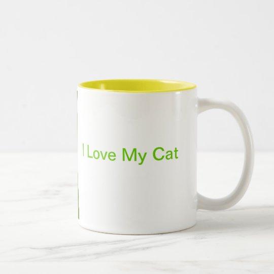 Orange and White Short Haired Cat Mug