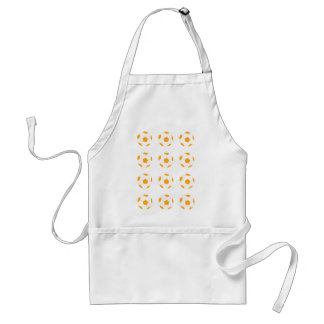 Orange and White Soccer Ball Pattern Aprons