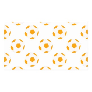 Orange and White Soccer Ball Pattern Business Card