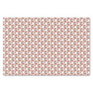Orange and White Soccer Ball Tissue Paper