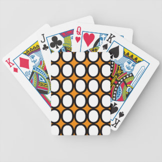 Orange and White Splash of O's Bicycle Playing Cards