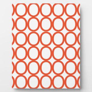 Orange and White Splash of O's Plaque
