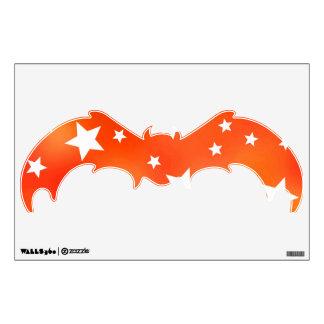 Orange and White Star Pattern Room Graphic