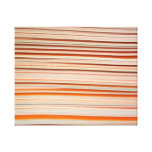 Orange and white stripe design wavy gallery wrap canvas