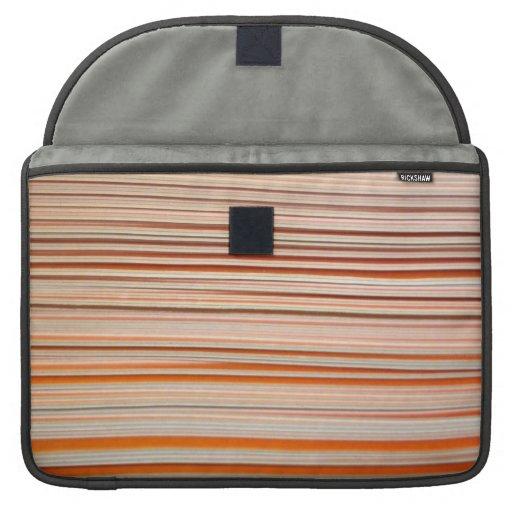 Orange and white stripe design wavy sleeve for MacBook pro