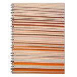 Orange and white stripe design wavy notebooks