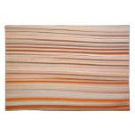 Orange and white stripe design wavy placemats