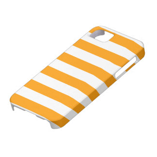 Orange and White Stripe Pattern iPhone 5 Cover