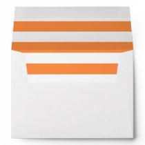 Orange and White Stripe Pattern Envelope