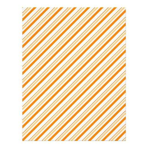 "Orange and White Striped 8.5"" X 11"" Flyer"