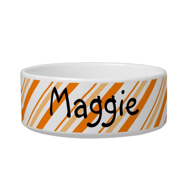 Orange and White Striped Bowl
