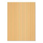 Orange and White Striped Pattern Personalized Invites