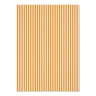 Orange and White Striped Pattern 4.5x6.25 Paper Invitation Card