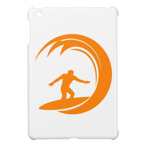 Orange and White Surfing Case For The iPad Mini