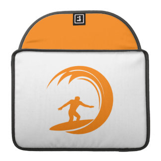 Orange and White Surfing Sleeve For MacBooks