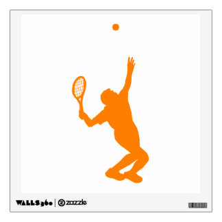 Orange and White Tennis Wall Graphics