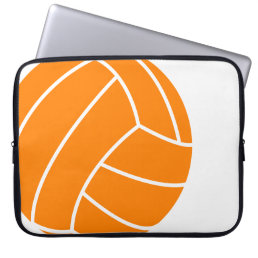 Orange and White Volleyball Laptop Sleeve