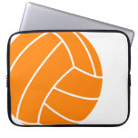 Orange and White Volleyball Laptop Sleeves