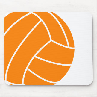 Orange and White Volleyball Mouse Pad