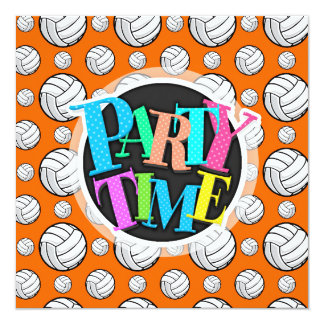 Orange and White Volleyball Pattern Card